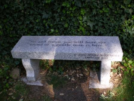 Grant Wolf's Memorial Bench